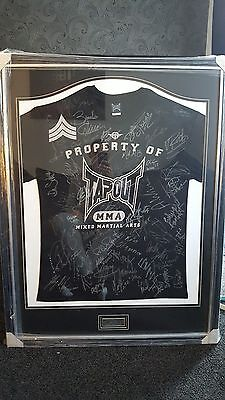 Ufc Hand Signed Framed Shirt Ken Shamrock Randy Couture Matt Serra