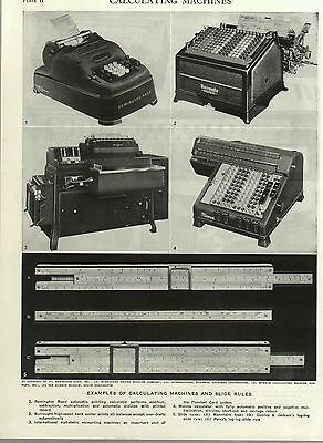 (B673) D/Sided  Book Print - Calculating Machines