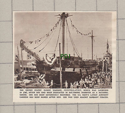 (2600) America's Oldest Warship CONSTELLATION Baltimore Harbour -  1961 Clip