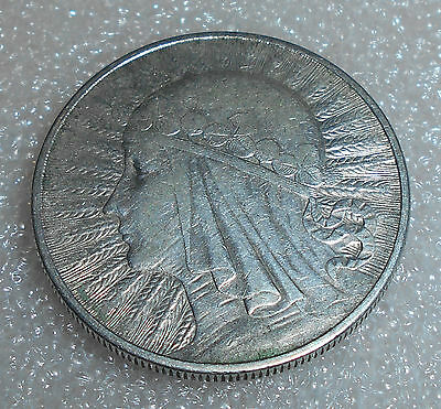 Poland 10 Zlotych Silver Coin 1932 Circulated / Queen Jadwiga (4)