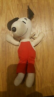 Vintage 1968 rare & collectable plush Peanuts Snoopy soft toy