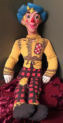 """1960's Chex Cereal Scarecrow Doll 22"""" with Vinyl Head, Ralston Purina"""