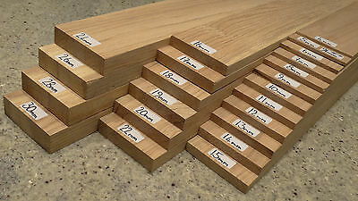 4mm to 50mm Thick Oak Strips L440/900 x W96/150mm /Slats/Plank/Blank/Board