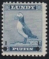 Lundy 1965 Provisional Overprint 1 Puffin On 3 Puffin Blue Mnh Superb