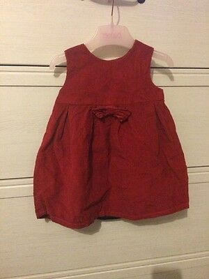 Next Baby Girl Red Cord Dress 3-6 Months Christmas Bow