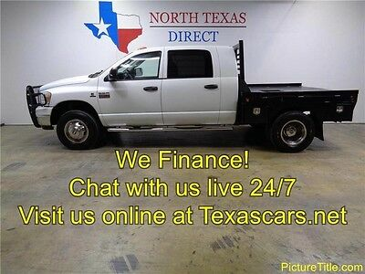 2009 Dodge Ram 3500  09 Ram 3500 SLT Mega Cab Flat Bed 4x4 6.7 Cummins We Finance Texas