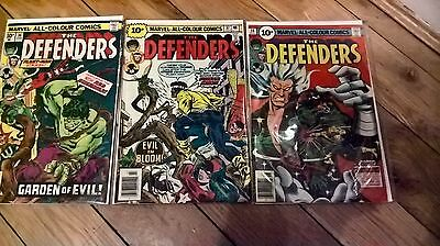 Marvel comics the defenders vol 1 #36 37 38 bagged and boarded