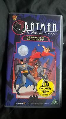 batman the animated series cat and claw parts 1&2 vhs video