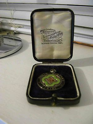 Vintage Silver  motorcycle ACU South Midland Centre Medal 1930 Presentation Box