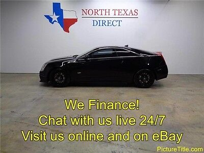 2012 Cadillac CTS V Coupe 2-Door 12 CTS-V 6.2 Supercharged V8 Recaro Seats Navi Sunroof  Heated We Finance Texas