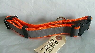 """Petflect Reflecitve Dog Collar Med  to Large 16-21"""" Visible from 500 ft away."""