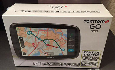 TomTom GO 6100 6 inch Sat Nav with World Maps (Sim Card and Unlimited Data Inclu