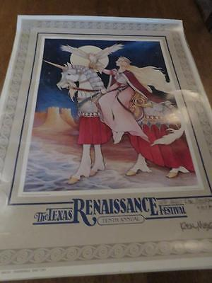Real Musgrave To Touch the Sea of Dreams Vintage Poster  Signed With Magic 1984