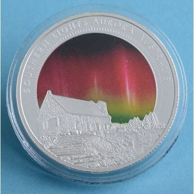 Southern Lights Aurora Australis 1 OZ Silver Proof Coin!!! NEW ZEALAND 2017