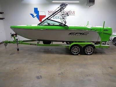 2017 Epic 23v Wakeboard Tower 4000lb Ballast Heater Bimini LED Lights Speakers