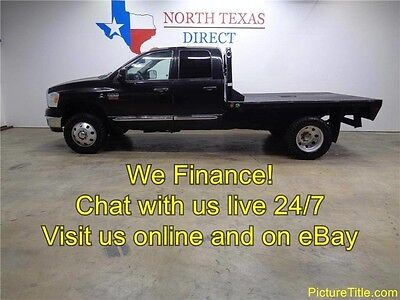 2008 Dodge Ram 3500  08 Ram 3500 SLT 4x4 6.7 Cummins Diesel Flat Bed Off Road WE FINANCE 1 Texas Ownr