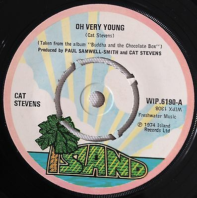 Cat Stevens, Oh Very Young, Soft Rock, 45RPM Vinyl Single (7-inch)