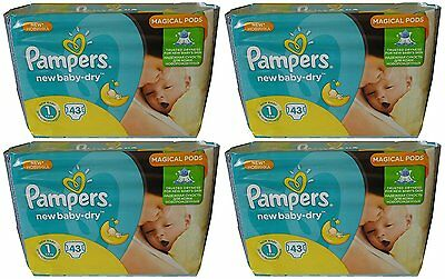 Pampers New Baby Lot 172 couches 2-5 KG Taille 1
