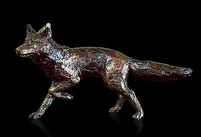 Fox, Detailed Solid Bronze Miniature By Butler and Peach,Richard Cooper
