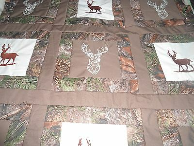 DEER ( embroidery) BABY QUILT 39 X 39