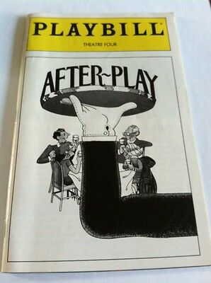 Playbill June 1995 After Play Theatre Four. Great cover art a nice framer.