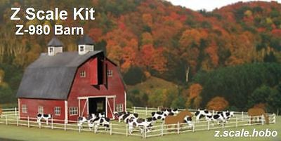 Miller Micro-Structures Z 980 Barn Dairy Cows Fence Building KIT *NEW $0 SHIP