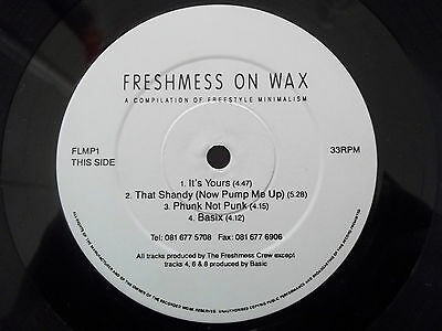 """Freshmess On Wax - A Compilation Of Freestyle Minimalism 12"""" Lp / Vinyl - Flmp1"""