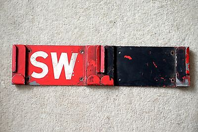 London Transport Routemaster GARAGE CODE STENCIL PLATE HOLDER for STOCKWELL (SW)