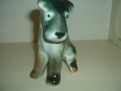 Black And Gray Terrier Dog Figurine