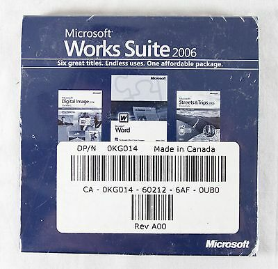 Microsoft Works Suite 2006 Software Brand New