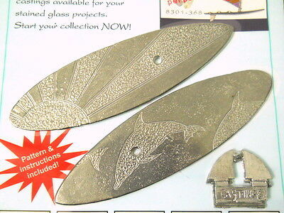 New Sealed 2 Sailboard Metal Castings for Glass Cloth Pottery More Art Work USA