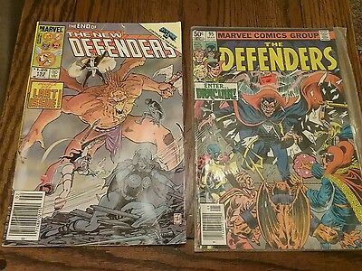 Lot Of 2 Marvel Comics The Defenders #95 & The New Defenders #152