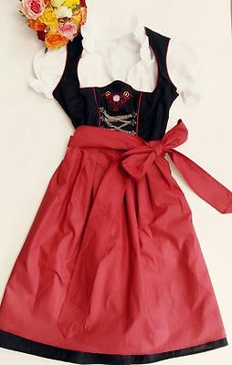 German,Germany,Trachten,Bavarian,Oktoberfest,Dirndl Dress,3-pc.Sz.20,Dark Wine