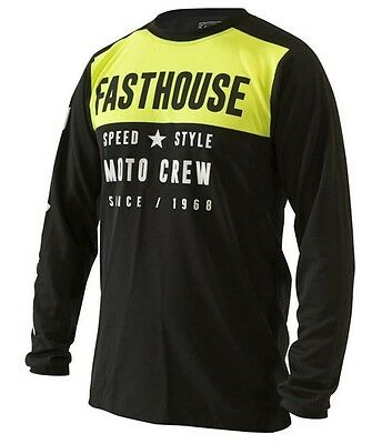 Fasthouse Boss Man Mx Jersey Black / Fluro Yellow