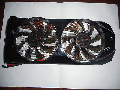 2 PIN TWIN TURBO (FAN & HEAT SINK HEAT PIPE VGA COOLER for ATI NVIDIA GTX 9600