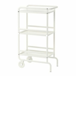 SUNNERSTA Trolley 56x33 cm Steel Kitchen General Use 3 Tiers Two Tyres IKEA-NEW