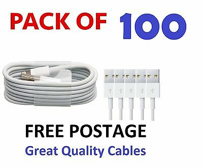 100 X Wholesale Joblot Iphone 7 6 5 Ipod Ipad Usb Data Charger Cables Compatible