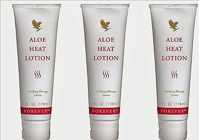 3xFOREVER ALOE HEAT LOTION, RELEIF YOUR STRESS AND STRAINS, 118ml,Living product