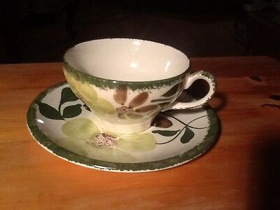 Blue Ridge, Hand Painted CUP & SAUCER SET Green Briar - 5 Available