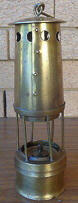 Vintage Style Miners Lamp, All Brass, Made In Melbourne.  Collectible