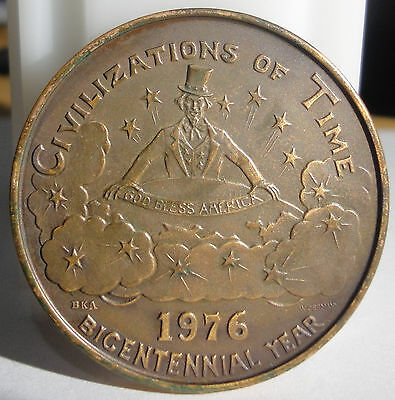 1976 Mobile,Al.~Mystics of Time~Mardi Gras Brass Doubloon ~BICENTENNIAL YEAR