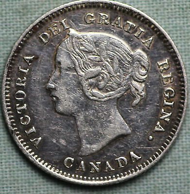 1901 Canada 5 Cents Silver ~Queen  Victoria ~Km2 Combined Shipping
