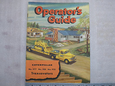 1950's Cat Illustrated Operator's Guide No. 977-955-933 Traxcavator Brochure