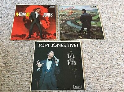 3 X Tom Jones Vinyl LP