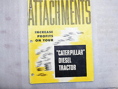 1952 Caterpillar Diesel Tractor Attachments 31 Page Brochure Catalog