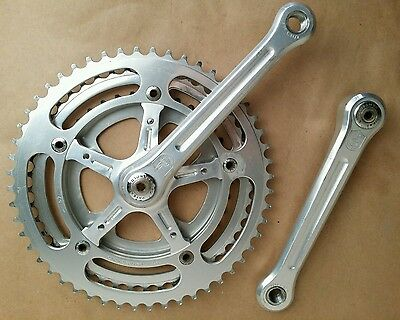 Campagnolo 170 Triple 36 46 52 Nuovo Record Crank Set  Bicycle Touring Vintage