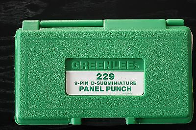 Greenlee 34436, 229 9-Pin D-Subminiature Panel Punch slightly use. An $800 Value
