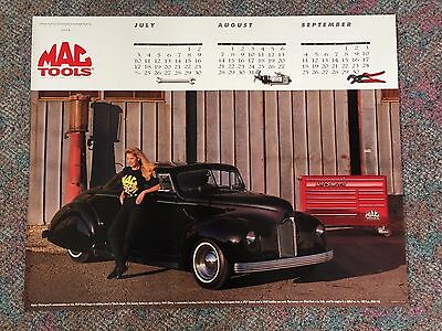 MAC Tools 1994 Poster Calendar 1939 Harry Westergard Customized Ford Coupe