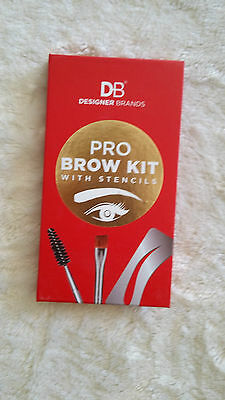 Designer Brands Pro Brow Kit with stencils brand new never used