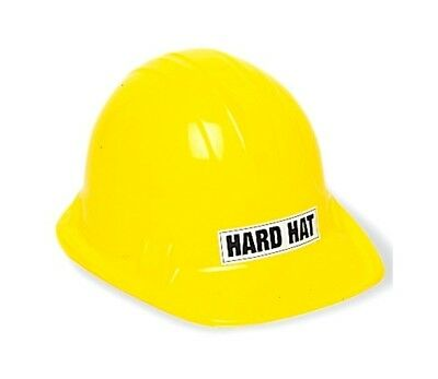 1 x Kids Size Unique Construction Plastic Yellow Hard Hat Party Costume Accessor